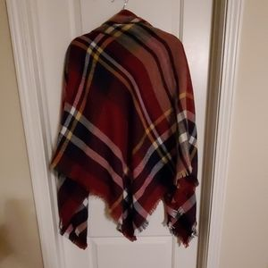 Blanket scarf in beautiful fall colors
